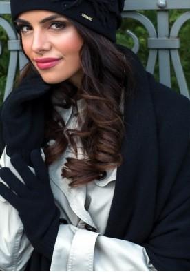 Черен дамски зимен шал