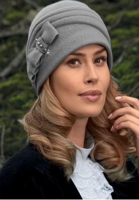 Сива дамска зимна шапка Air