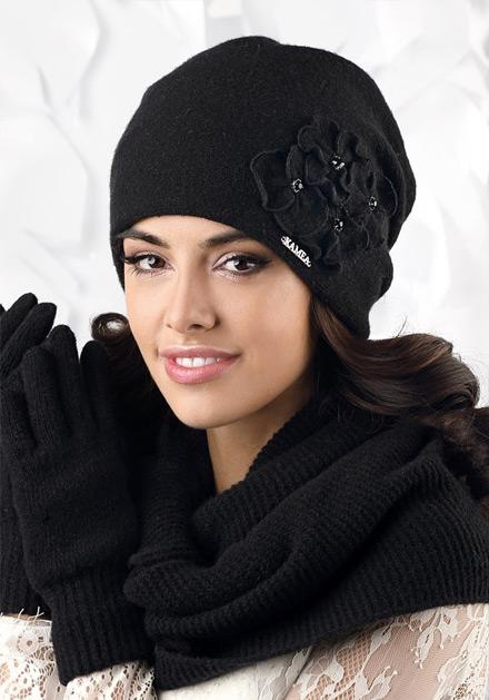 Черна зимна шапка Andora