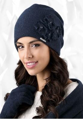 Синя дамска зимна шапка Andora