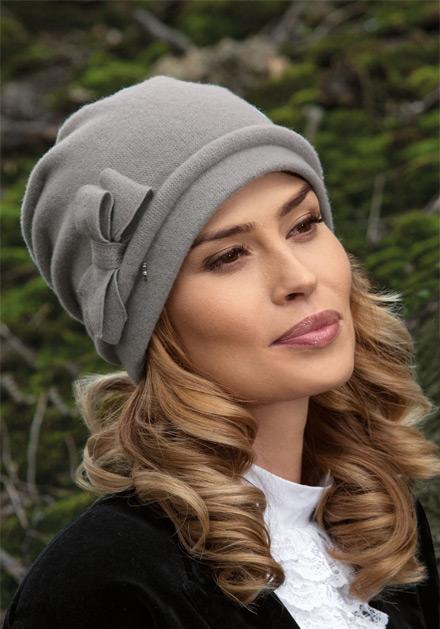Елегантна сива дамска шапка Bari