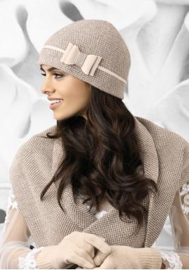 Комплект шапка и шал  в екрю Bolonia
