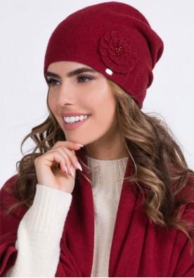 Дамска зимна шапка Megi в бордо