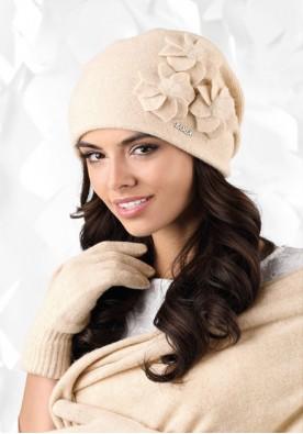 Бежова зимна шапка Teramo
