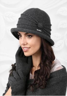 Сива зимна шапка Venecja