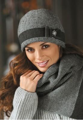 Зимна шапка в сиво Басилиа