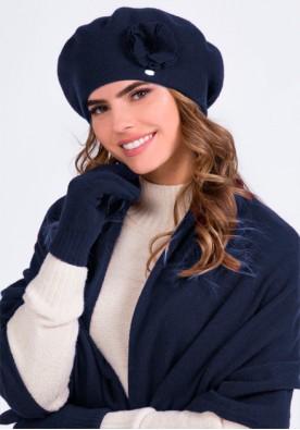 Комплект барета, шал и ръкавици в синьо модел Biluna - марка Kamea