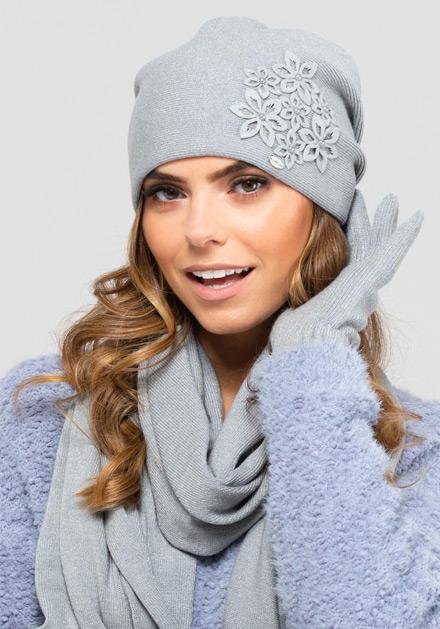 Изискана дамска сива шапка Malaga