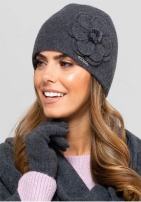Зимна шапка в тъмно сиво Marbella