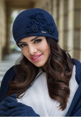 Синя зимна шапка Нора