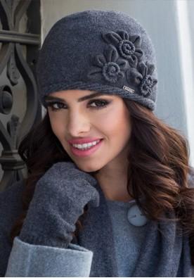 Зимна шапка в тъмно сиво Нора