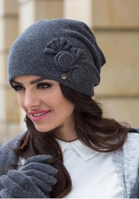 Модерна шапка в цвят графит Пилар