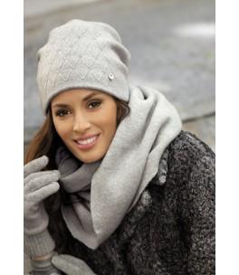 Сребристосива дамска зимна шапка Рафаела