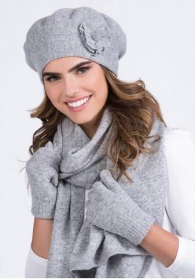 Комплект шал и барета в светло сиво Biluna - марка Kamea