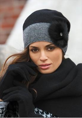 Черна дамска зимна шапка Елена